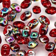 Superduo 2.5x5mm Ruby Vitrail Beads 10GM Bag