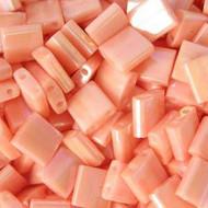Tila 2 Hole Semi OP AB Salmon Seed beads 10 Grams