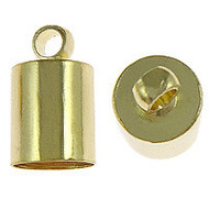 Tube End Cap Light Gold Plated