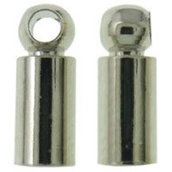 Tube End Cap Silver Plated
