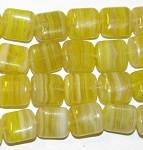 Yellow multi Marble Czech Glass Beads