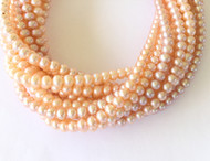 Genuine natural Peach Freshwater Pearl Beads