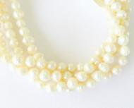 Genuine natural Beige Baroque Freshwater Pearl Beads