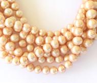 Genuine natural Round Freshwater Pearl Beads