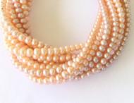 Genuine natural Multi Hued Potato Freshwater Pearl Beads