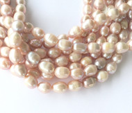 Genuine natural LT Lilac Luster Freshwater Pearl Beads