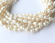 Genuine natural Rice shape Rice Freshwater Pearl Beads