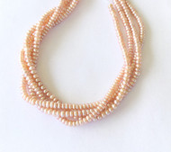 172 Genuine Freshwater Pearl Natural baby Pink Cultured Rondelle Pearl Strands