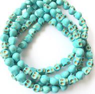 Gemstone natural skull Turquoise Beads