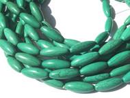 Natural Green Turquoise Elongate Gemstone beads Stone Beading Supplies