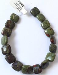 Fine Natural Dragon Blood Jasper Square Gemstone beads Beading Supplies