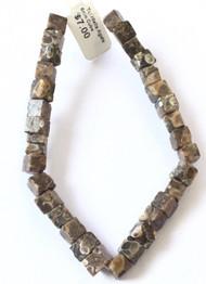 30 Fine Natural Turritella Agate Square Gemstone beads Beading Supplies