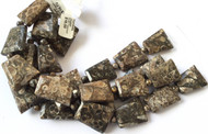 Fine Natural Turritella Agate Faceted Trapezoid Gemstone beads Beading Supplies