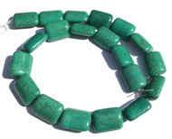 Green Turquoise with Spider Vein Rectangle Gemstone beads Stone