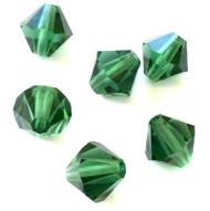 8mm  Turmaline Preciosa Czech Crystal Bicone Beads