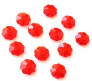 6mm Siam Margarita Swarovski Crystal unfoiled Flower Beads