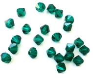 6mm Emerald Preciosa Czech Crystal Bicone Beads