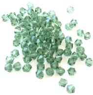 4mm Chrysolite Preciosa Czech Crystal Bicone Beads