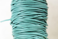 Round Leather Turquoise 1.5mm Sold Per Yard