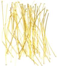 150PCS Gold Plated Head Pins 50mm long 24Gauge- Earring Sulpplies