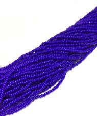 13/0 Charlotte Cut 12 Strands Preciosa Czech Cobalt Blue Glass Seed Beads