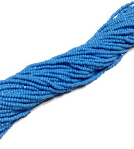 13/0 Charlotte Cut 12 Strands Preciosa Czech Blue Glass Seed Beads