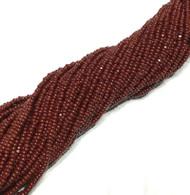 13/0 Charlotte Cut 12 Strands Preciosa Czech Dk Maroon Glass Seed Beads