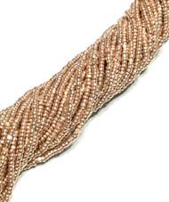 13/0 Charlotte Cut 12 Strands Preciosa Czech Met Copper Glass Seed Beads
