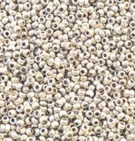 13/0 Charlotte Cut Loose Preciosa Czech Met Silver Glass Seed Beads