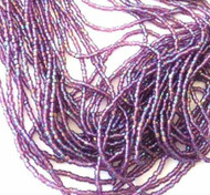 9/0 Charlotte 3Cut Czech PRECIOSA Amethyst AB Glass Seed Beads-1Hank-10Strands