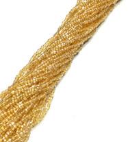 12/0 3Cut Czech Light Gold Glass Seed Beads-full Hank