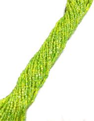 12/0 3Cut Czech Yellow Green Glass Seed Beads-full Hank