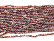 12/0 3Cut  Czech Amethyst Rainbow Glass Seed Beads-full Hank