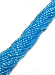 12/0 3Cut Czech Blue  AB Glass Seed Beads-full Hank