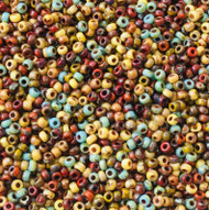 11/0 Medley Picasso Miyuki Japanese Glass seed Beads -20Grams