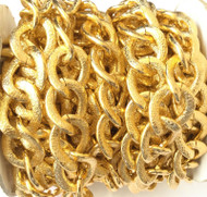 Nontarnish Bright Gold cable Chain Oval unsoldered links- Beading Supplies
