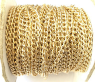 Nontarnish Gold Aluminum cable Chain Oval unsoldered-5.5mm links-Jewelry