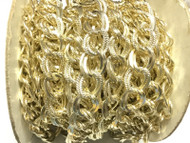Gold Plated Fancy Double cable Chain unsoldered links- Beading Supplies