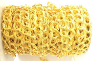 Gold Plated Double cable Chain Oval unsoldered-8mm links-Jewelry