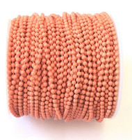 Genuine 2mm Ball Chain Coral Color Sold By the Foot