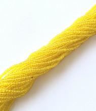 11/0 Hanks Czech Transparent Yellow Glass Seed Beads