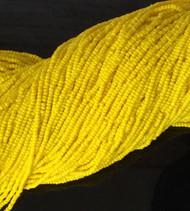 11/0 Czech Preciosa Opaque Yellow Glass Seed Beads Full Hank- 12 Strands