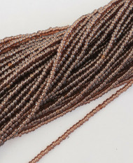 15/0 Two Hanks Czech Transparent Topaz Luster Glass Seed Beads-24 Strands