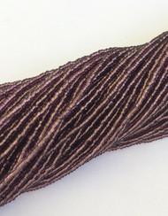 15/0 One Hanks Czech Transparent Amethyst Glass Seed Beads # 017