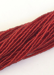 15/0 Two Hanks Czech Transparent Red Glass Seed Beads # 010