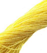 15/0 Two Hanks Czech Transparent Yellow Glass Seed Beads-24 Strands