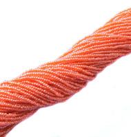 15/0 One Hanks Czech Orange Luster Glass Seed Beads-12Strands
