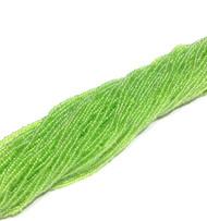 15/0 one Hanks Czech Transparent Apple Green Glass Seed Beads #4112