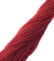 15/0 Two Hanks Czech Opaque terra Cota Red Glass Seed Beads-24 Strands