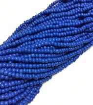 6/0 Czech Seed Beads Opaque Blue Glass 6 strands-seed beads 30 grams